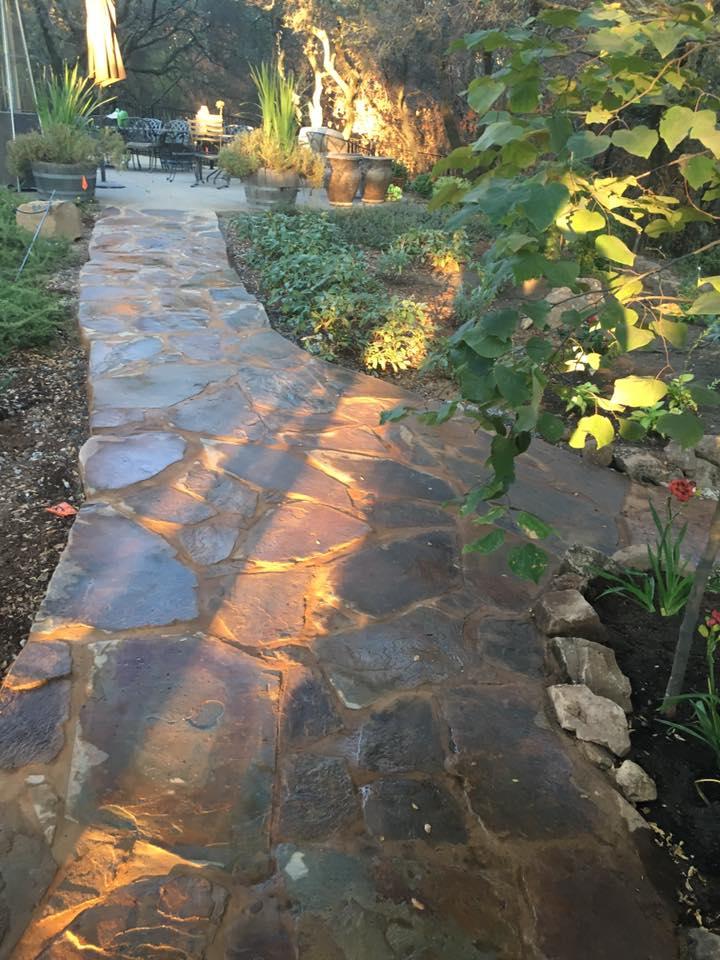Ready-the-flagstone-patio-hardscape-in-Sacramento-CA-by-Romeros-Landscape-Inc