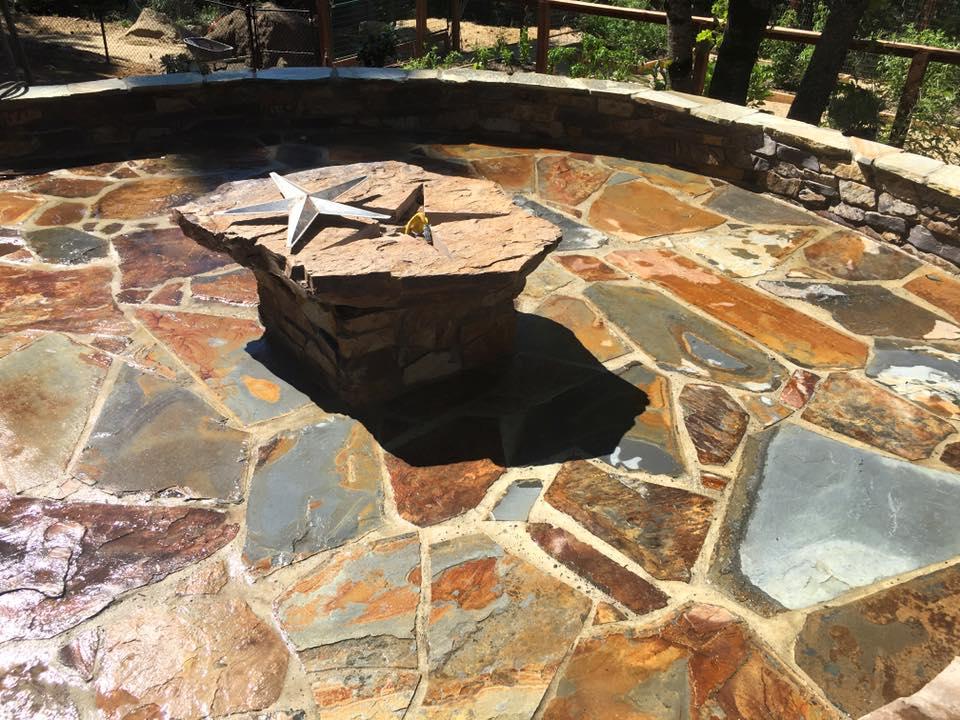 custom-made-fire-pits-cowboy-star-flagstone-patio-in-Sacramento-CA-by-Romeros-Landscape-Inc-003
