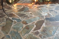 Lighting-and-flagstone-patio-hardscape-in-Sacramento-CA-by-Romeros-Landscape-Inc