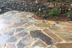 Ready-the-flagstone-patio-with-lighting-hardscape-in-Sacramento-CA-by-Romeros-Landscape-Inc