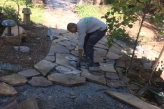 building-a-flagstone-patio-hardscape-in-Sacramento-CA-by-Romeros-Landscape-Inc