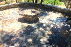 custom-made-fire-pits-cowboy-star-flagstone-patio-in-Sacramento-CA-by-Romeros-Landscape-Inc